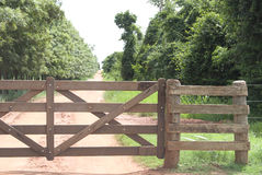 Rural Gate Stock Image