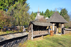 Rural gate maramures Royalty Free Stock Photography