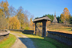 Rural gate in maramures Stock Photography
