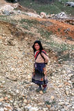 Rural girl in Eastern Turkey Stock Photography
