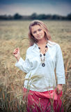 Rural girl in field Royalty Free Stock Photography