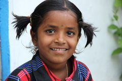 Rural Girl. Indian Rural Girl with smiling face Royalty Free Stock Images