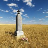 Rural grave marker. Royalty Free Stock Photos