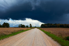 Rural gravel road. Royalty Free Stock Photography