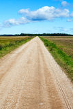 Rural gravel road. Royalty Free Stock Photos