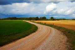 Rural gravel road. Royalty Free Stock Images