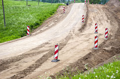Rural gravel Road Construction And Repairs Royalty Free Stock Photo