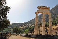 Rural Greek Delphi Temple Stock Image