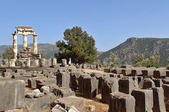 Rural Greek Delphi Temple Stock Photography