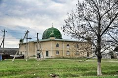 Rural green mosque Royalty Free Stock Photography