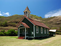 Rural Hawaiian Church. Kahakuloa Congregational Church in Maui Hawaii Royalty Free Stock Image