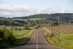 Rural highway stock photography