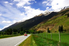 Rural highway. Beautifu rural road in New Zealand Royalty Free Stock Photo