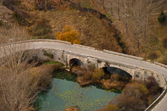 A rural highway bridge Stock Images
