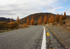 Rural highway of New zEaland. Rural Island of the South Island New Zealand Royalty Free Stock Photography