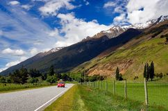 Rural Highway New Zealand. Beautiful Rural highway in New Zealand Stock Photo