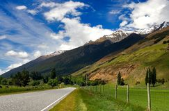 Rural Highway New Zealand. Beautiful Rural highway in New Zealand Royalty Free Stock Image