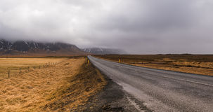 Rural highway road Iceland Stock Photography