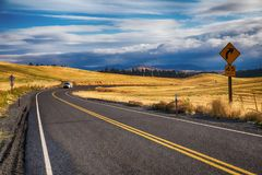 Rural highway Stock Images