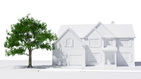 Rural home. 3D model of a rural home from Georgia Stock Photography