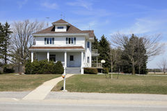 Rural home. Traditional two story home from in a little township in the midwest Stock Images