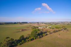 Rural home in Australia. Home in rural farmland in South Gippsland, Australia Stock Photo