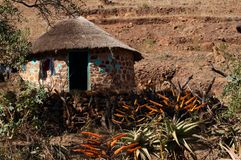 Rural home in South Africa. Rock and Mud home in Rural South Africa Stock Photos