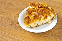 Rural homemade pie Royalty Free Stock Images