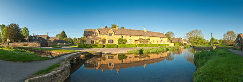Rural homes, Cotswold, UK Stock Image