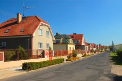 Rural homes. At a Czech country royalty free stock photos