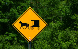Rural horse and buggy sign Stock Images