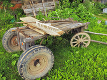 Rural horse cart - telega Royalty Free Stock Image