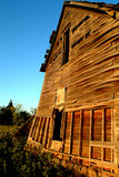 Rural House. Old farm house that is leaning over about to fall down Stock Images