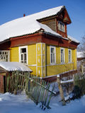 Rural house. The rural house in a snow, winter, Russia Stock Image