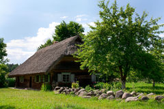 Rural house. Background can use the Internet, print advertising and design Royalty Free Stock Photo