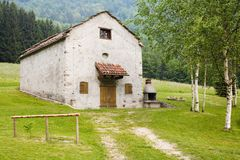 Rural house. A typical rural house in the Alpes Stock Photos