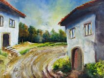 Rural house. Illustration of rural house - I am author of this image Royalty Free Stock Image