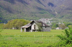 Rural house in the Alps. Royalty Free Stock Images