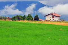 Rural house in Alps Stock Photo