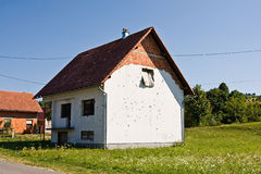 Rural house after attack Royalty Free Stock Photography