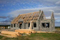Rural House Build Royalty Free Stock Photos