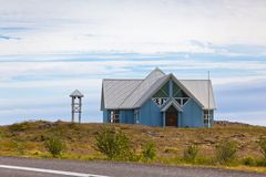 Rural House in East Iceland Royalty Free Stock Photo