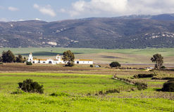 Rural house. In the fields of the Spanish province of Cadiz on a sunny day Stock Images