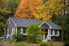 Rural House in Foliage Royalty Free Stock Image