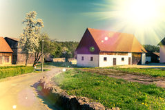 Rural house in Germany, tinted image Stock Photo