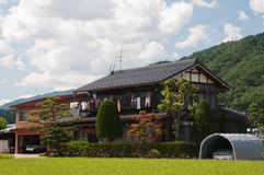 Rural house in Japan mountains Stock Photos