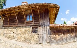 Rural house in Jeravna, Bulgaria. Mountain eco-village Zheravna - Bulgarian national carpet center, rural tourism, national rural architecture and a popular Royalty Free Stock Images