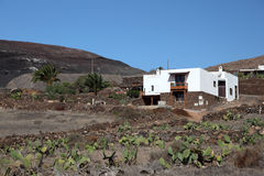 Rural house on Lanzarote, Spain Stock Image