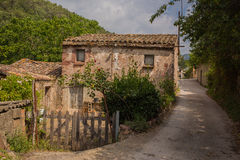 Rural house at local road Royalty Free Stock Images