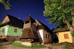 Rural house in night Stock Images